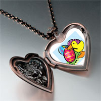 Necklace & Pendants - easter egg red heart locket pendant necklace Image.