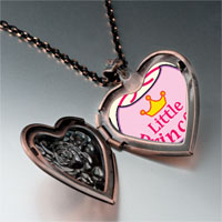 Necklace & Pendants - cartoon theme photo heart rose heart locket pendant little princess gifts for women necklace Image.