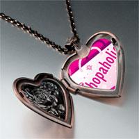 Necklace & Pendants - cartoon theme photo heart rose heart locket pendant shopaholic gifts for women necklace Image.