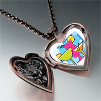 Necklace & Pendants - cartoon theme photo heart rose heart locket pendant cocktail summer gifts for women necklace Image.
