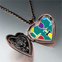 Necklace & Pendants - food beverage photo heart locket pendant necklace Image.