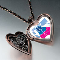 Necklace & Pendants - animal fishes photo heart locket pendant necklace Image.