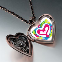 Necklace & Pendants - love theme heart photo heart locket pendant necklace Image.