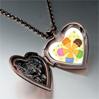 Necklace & Pendants - pink orange blue green flower heart locket pendant necklace Image.
