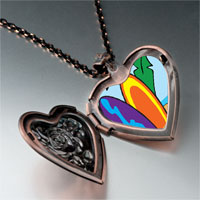 Necklace & Pendants - travel sand beach photo heart locket pendant necklace Image.