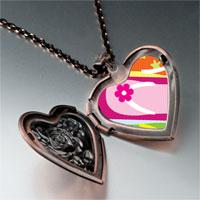 Necklace & Pendants - travel sandal photo heart locket pendant necklace Image.