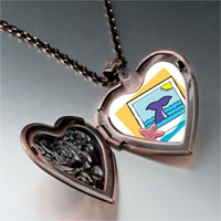 Necklace & Pendants - travel whale photo heart locket pendant necklace Image.