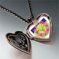 Necklace & Pendants - travel flower wreath photo heart locket pendant necklace Image.