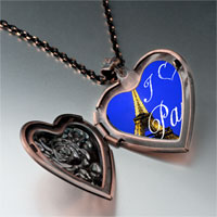 Necklace & Pendants - landmark paris eiffel tower photo heart locket pendant necklace Image.