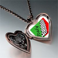 Necklace & Pendants - landmark italy photo heart locket pendant necklace Image.