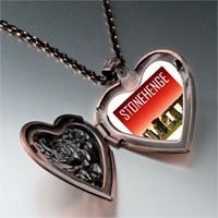 Necklace & Pendants - landmark stonehenge photo heart locket pendant necklace Image.