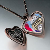 Necklace & Pendants - landmark big ben photo heart locket pendant necklace Image.