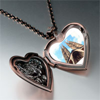 Necklace & Pendants - landmark gothic architecture photo heart locket pendant necklace Image.