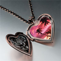 Necklace & Pendants - landmark hawai photo heart locket pendant necklace Image.