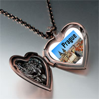 Necklace & Pendants - landmark prague photo heart locket pendant necklace Image.