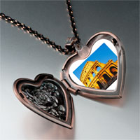 Necklace & Pendants - landmark colosseum photo heart locket pendant necklace Image.