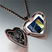 Necklace & Pendants - travel merlion photo heart locket pendant necklace Image.