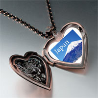 Necklace & Pendants - travel mt fuji photo heart locket pendant necklace Image.