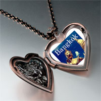 Necklace & Pendants - travel wat phra kaew photo heart locket pendant necklace Image.