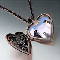 Necklace & Pendants - animal penguin antarctica photo heart locket pendant necklace Image.