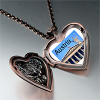 Necklace & Pendants - travel parliament building austria photo heart locket pendant necklace Image.
