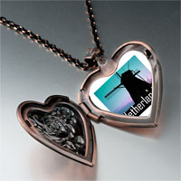 Items from KS - travel windmill netherlands photo heart locket pendant necklace Image.