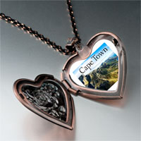 Items from KS - travel cape town photo heart locket pendant necklace Image.