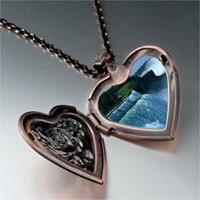 Items from KS - travel niagara falls photo heart locket pendant necklace Image.