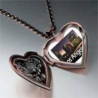 Necklace & Pendants - travel los angeles photo heart locket pendant necklace Image.