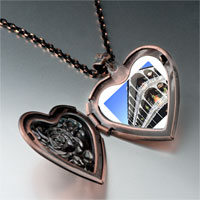 Items from KS - travel new orleans photo heart rose heart locket pendant gifts for women necklace Image.