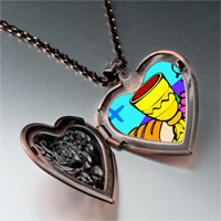 Necklace & Pendants - religion bread &  wine photo heart locket pendant necklace Image.