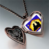 Items from KS - religion nativity photo heart locket pendant necklace Image.
