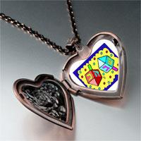 Items from KS - religion dreidl photo heart locket pendant necklace Image.