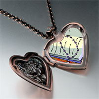 Items from KS - religion bible &  rosary photo heart locket pendant necklace Image.