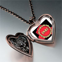 Items from KS - religion crown thorns photo heart locket pendant necklace Image.