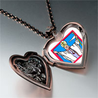 Items from KS - religion pope photo heart locket pendant necklace Image.