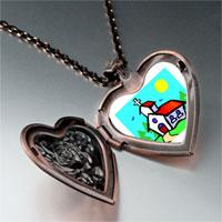 Necklace & Pendants - religion church photo heart locket pendant necklace Image.