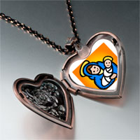 Necklace & Pendants - religion christian mary jesus photo heart locket pendant necklace Image.