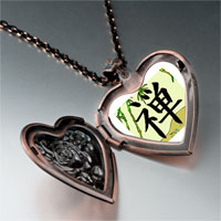 Necklace & Pendants - religion buddhism chan photo heart locket pendant necklace Image.