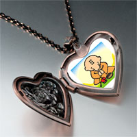 Necklace & Pendants - religion buddhism little monk photo heart locket pendant necklace Image.