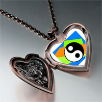 Items from KS - religion taoism yin yang photo heart locket pendant necklace Image.