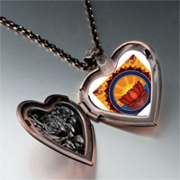 Necklace & Pendants - religion buddhism holy lotus photo heart locket pendant necklace Image.