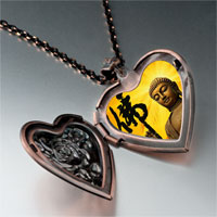 Necklace & Pendants - religion holy buddha photo heart locket pendant necklace Image.