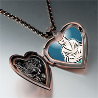Necklace & Pendants - religion holy buddha lotus photo heart locket pendant necklace Image.