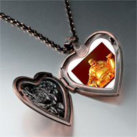 Necklace & Pendants - religion huge buddha figure photo heart locket pendant necklace Image.