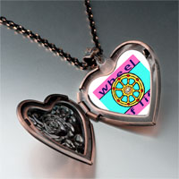 Items from KS - religion wheel life photo heart locket pendant necklace Image.
