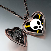 Necklace & Pendants - music hard metal photo heart locket pendant necklace Image.