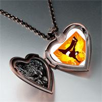 Necklace & Pendants - music trumpet photo heart locket pendant necklace Image.