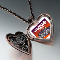 Necklace & Pendants - music hip hop recorder photo heart locket pendant necklace Image.