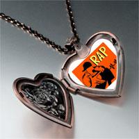 Necklace & Pendants - music rap photo heart locket pendant necklace Image.